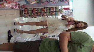 Chinese street hot girl upskirt part 3
